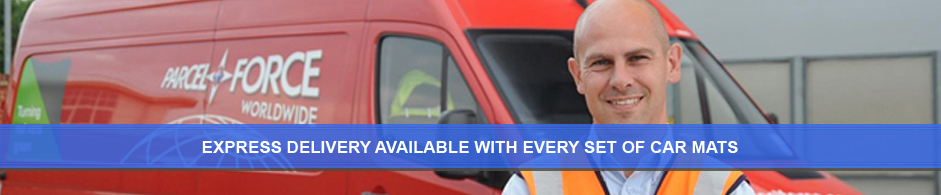 Free delivery with every set of car mats